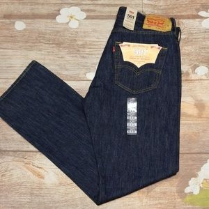 NWT Levi's 501 straight leg button-Fly jeans